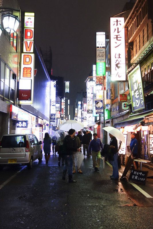 Japan-Tokyo-Shibuya-Rain-Ramen - It had stopped raining so I wandered around, this lane is full of Africans that try to shake your hand and tell you all about how much fun you will ha